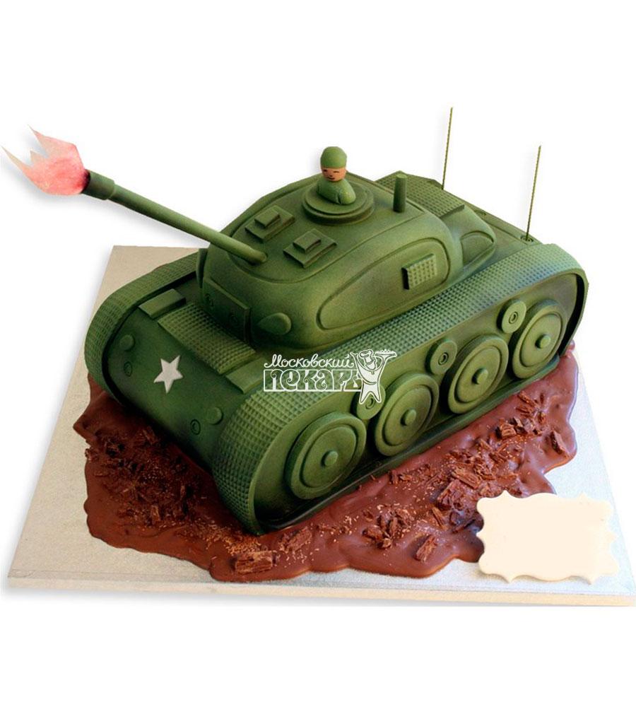 №1126 3D Торт танк