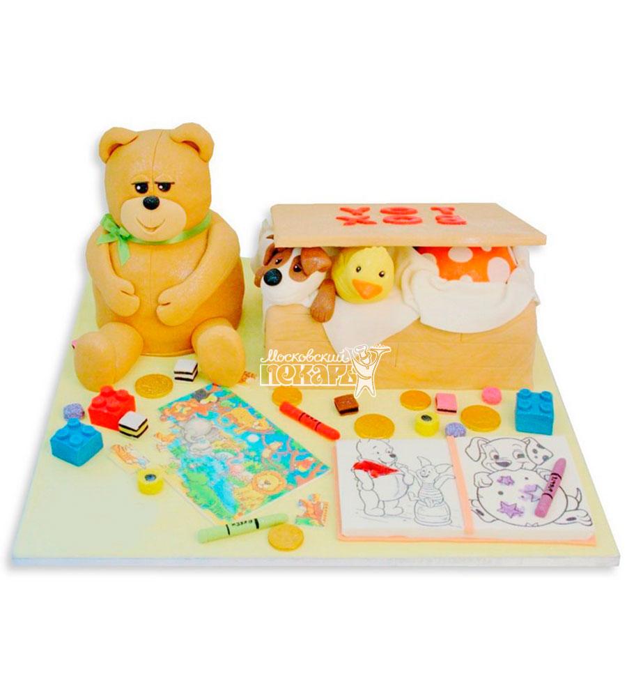 №1129 Детский торт с мишкой