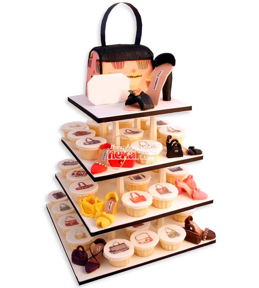№1135 Женский торт с капкейками