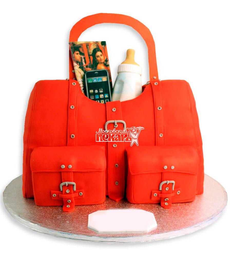 №1139 3D Женский торт сумочка