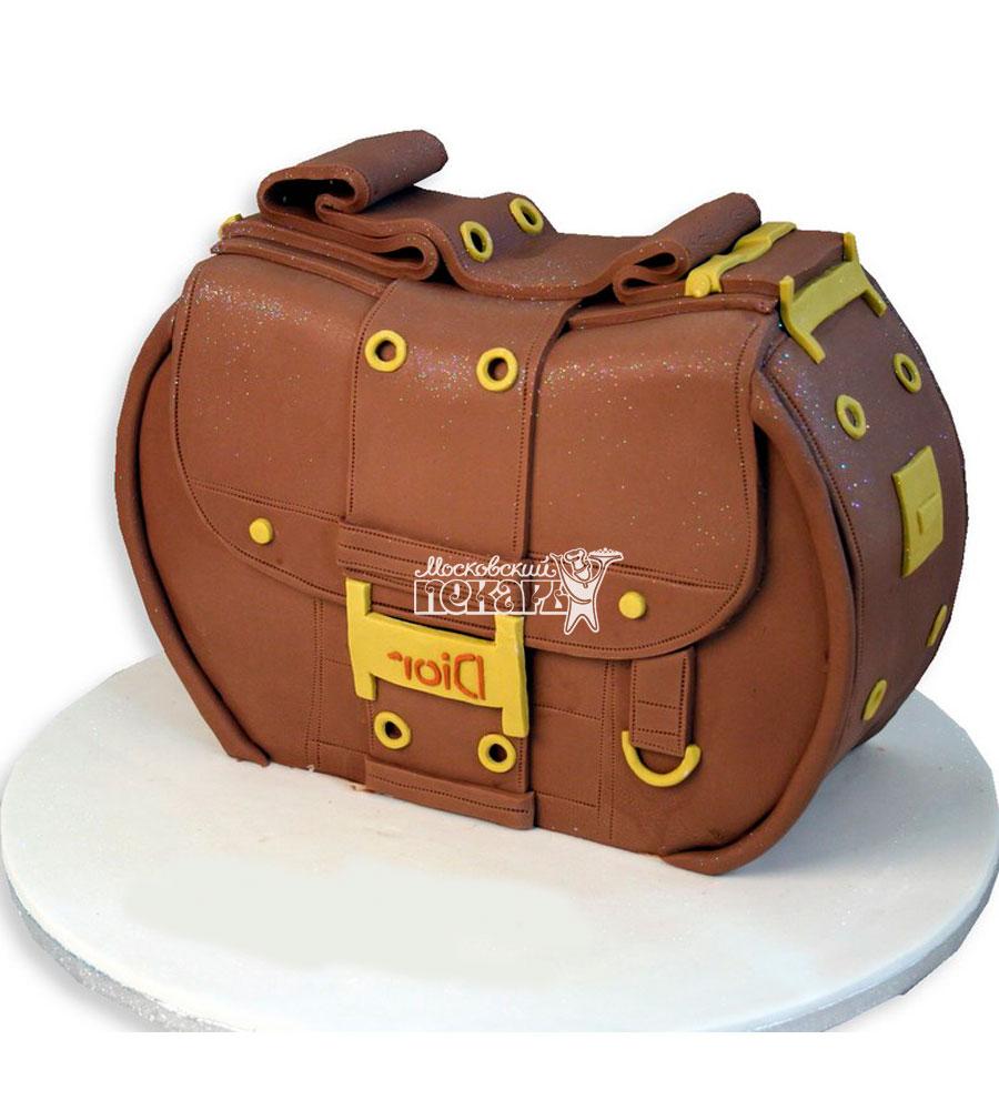 №1140 3D Женский торт сумочка