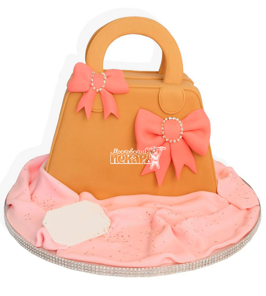 №1143 3D Женский торт сумочка