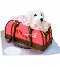 №1146 3D Женский торт сумка с собачкой
