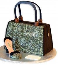 №1147 3D Женский торт сумка и туфли