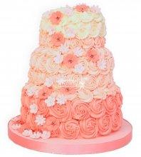 №1164 Женский торт с цветами
