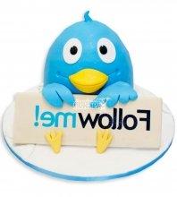 №1165 3D Женский торт птичка