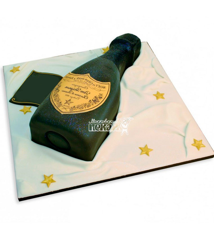№1167 3D Женский торт шампанское