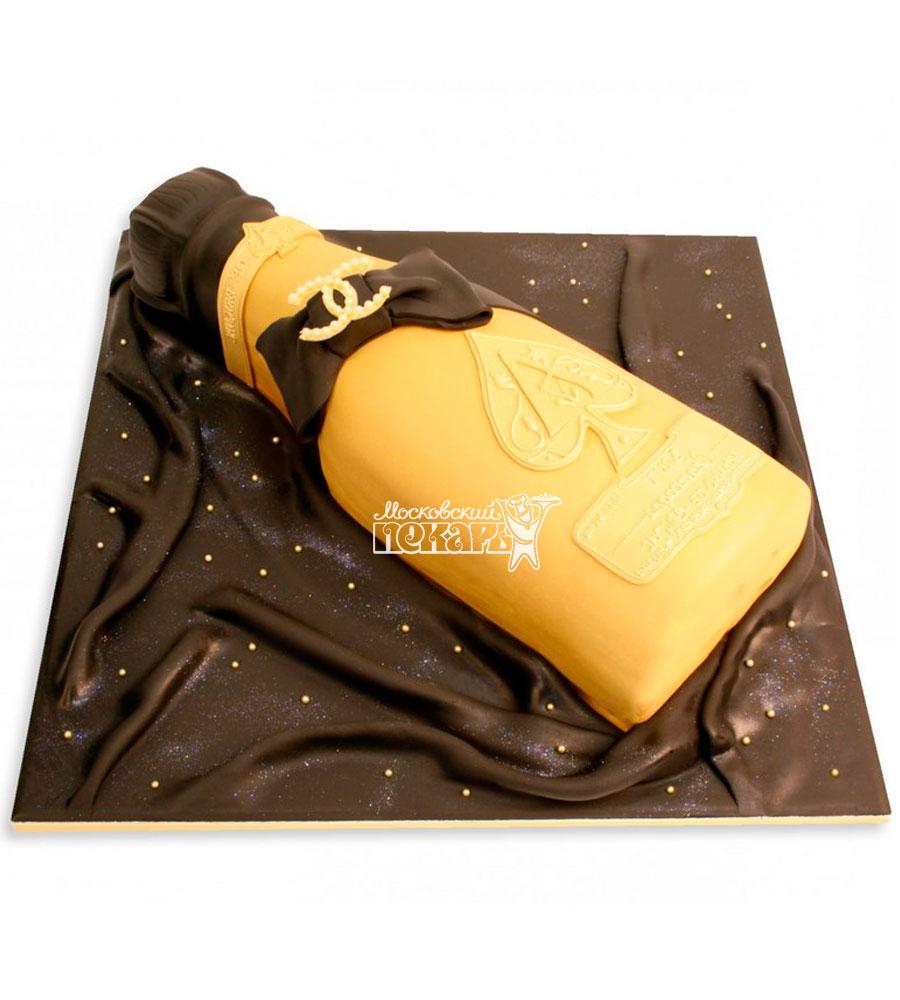 №1169 3D Женский торт шампанское