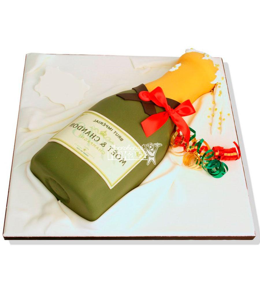 №1170 3D Женский торт шампанское