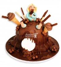 №1171 3D Женский торт сладкоежка