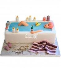 №1176 Торт девушка в ванне