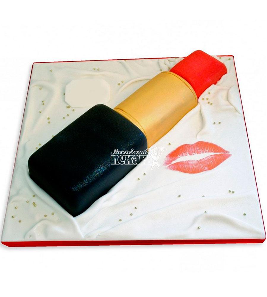 №1177 3D Женский торт помада