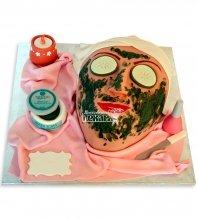 №1180 3D Женский торт маска
