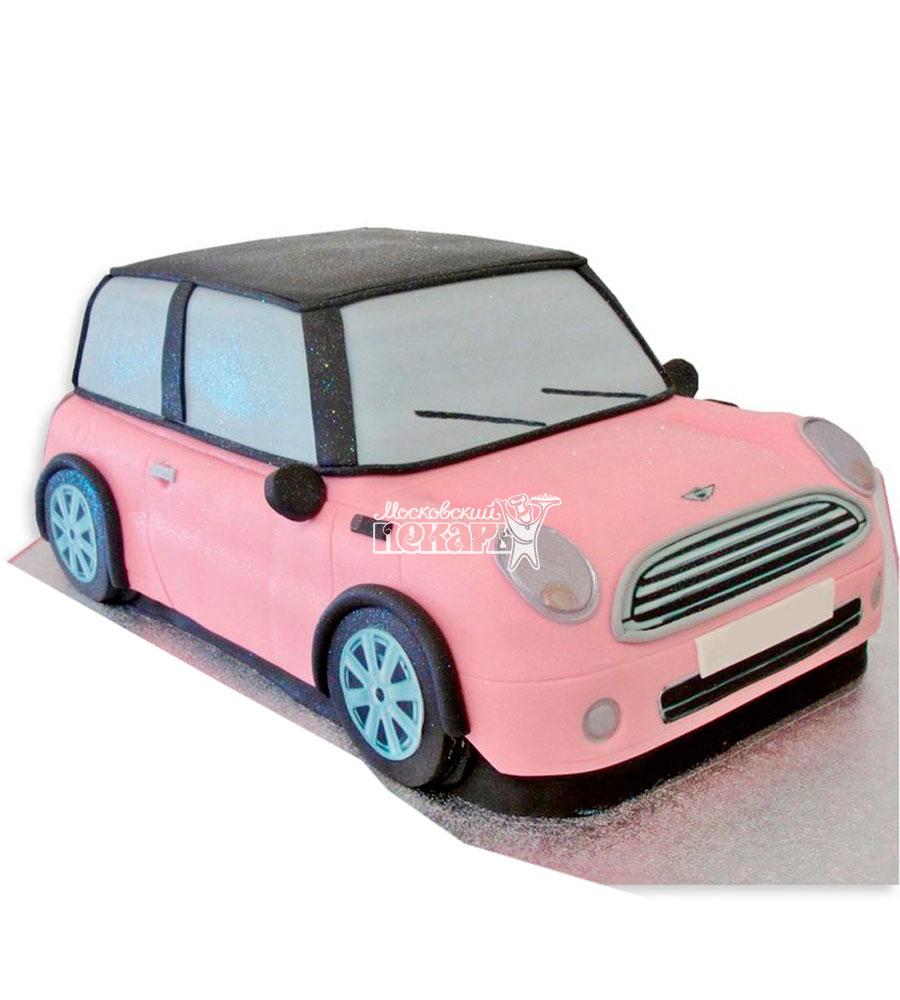 №1181 3D Женский торт машина