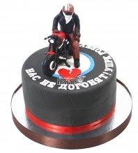 №1188 Торт на день рождения с мотоциклистом