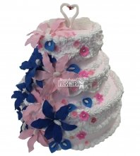 №1193 Свадебный торт с цветами