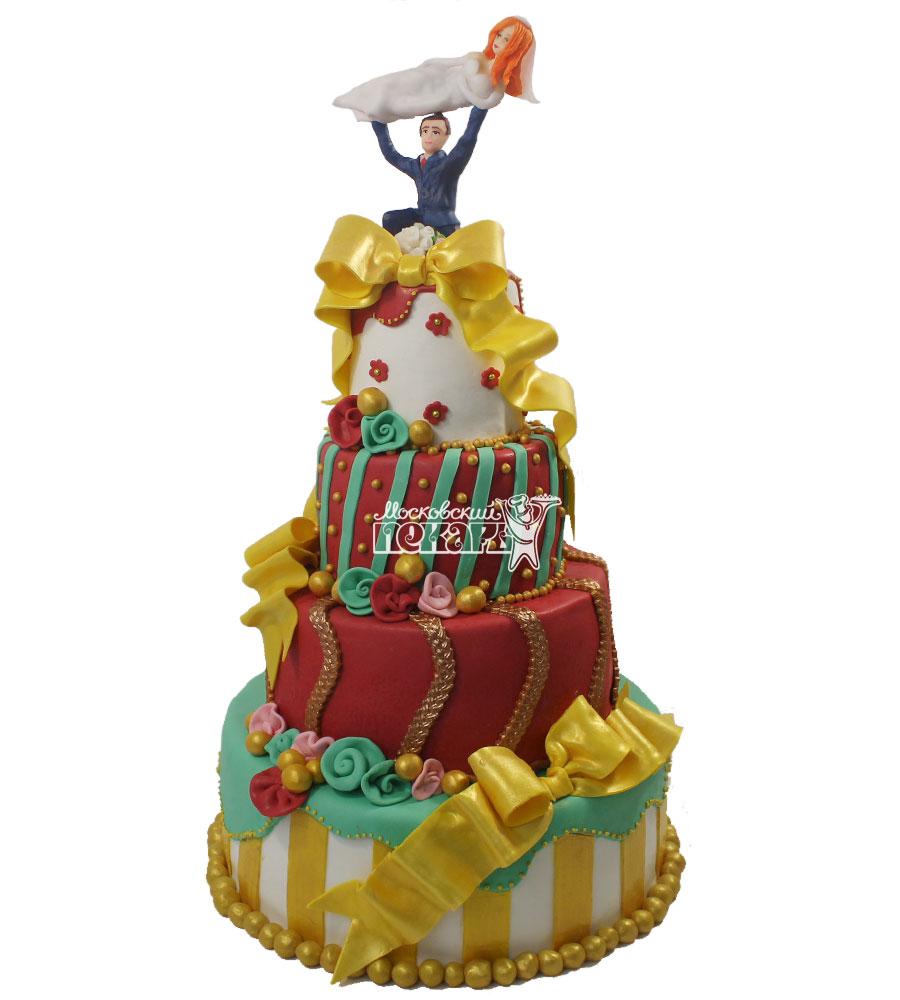 №1207 Оригинальный свадебный торт