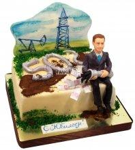 №1230 Корпоративный торт для шефа