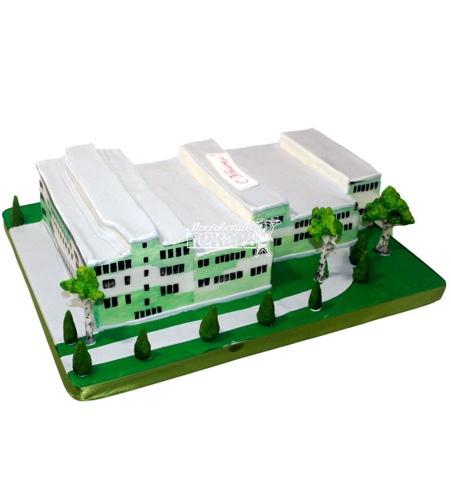 №1236 Корпоративный торт здание