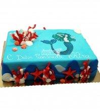 №1237 Торт на день рождения с русалкой