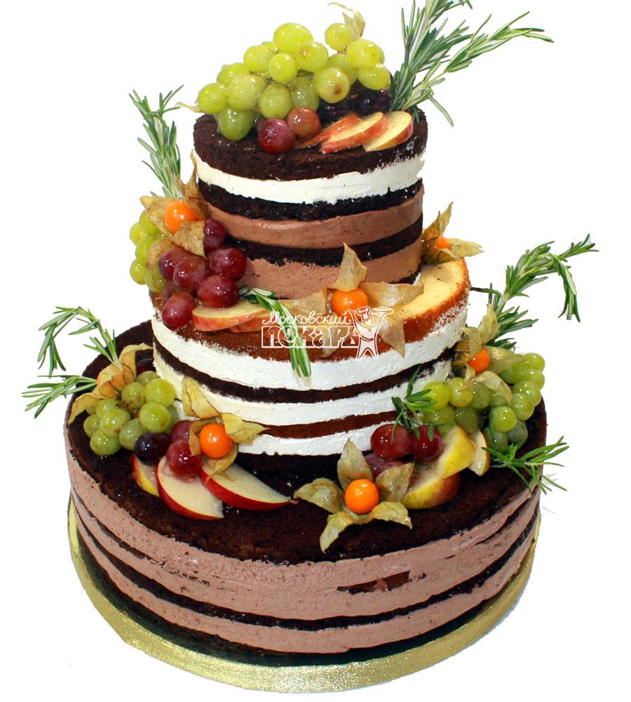 №1241 Праздничный торт с фруктами и ягодами