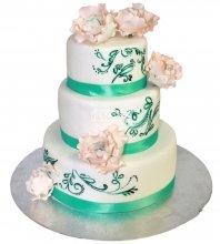 №1285 Свадебный торт с розами