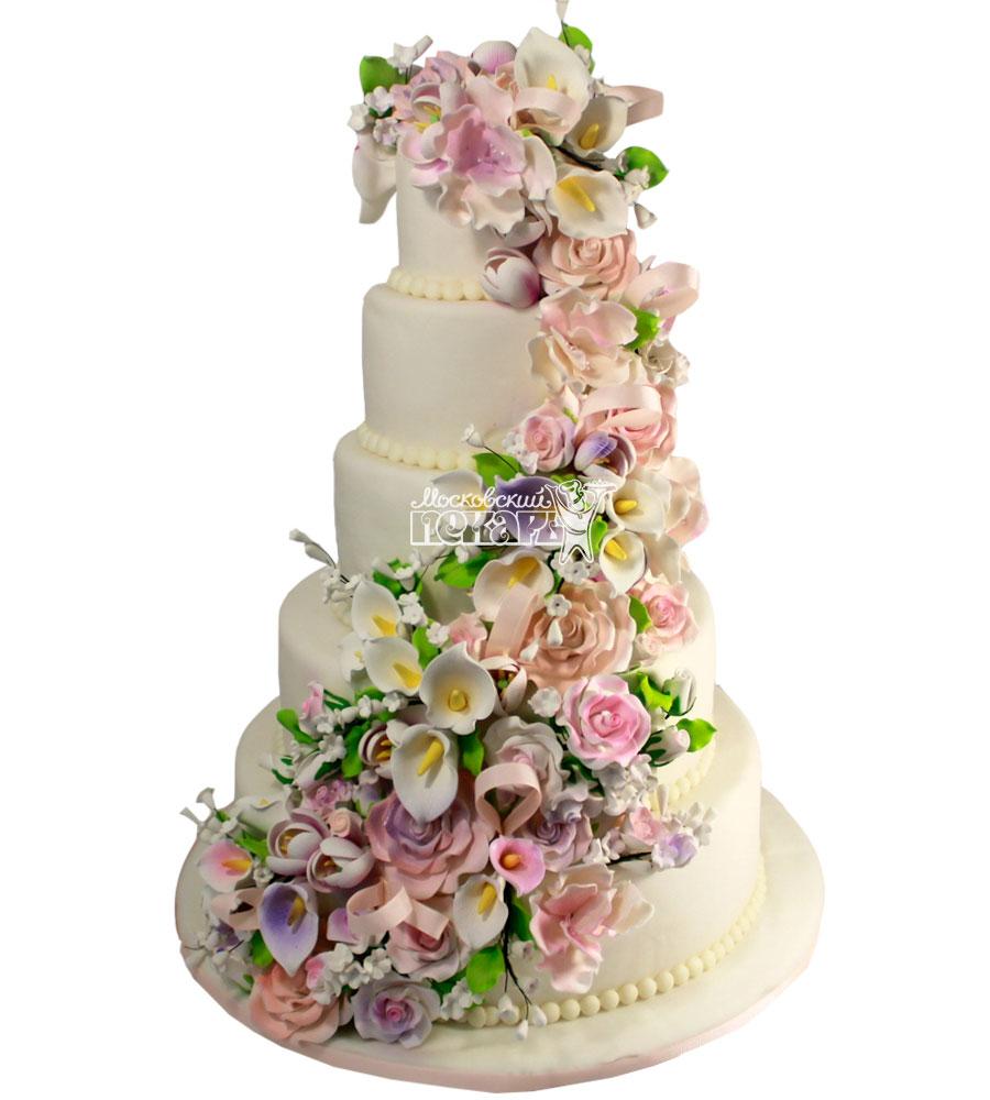 №1286 Свадебный торт с розами