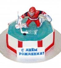 №1287 Праздничный торт хоккеист