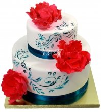 №1291 Свадебный торт с розами