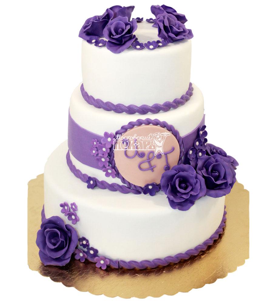 №1296 Свадебный торт с розами
