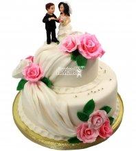 №1297 Свадебный торт с розами