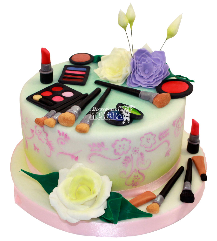 №1301 Женский торт макияж