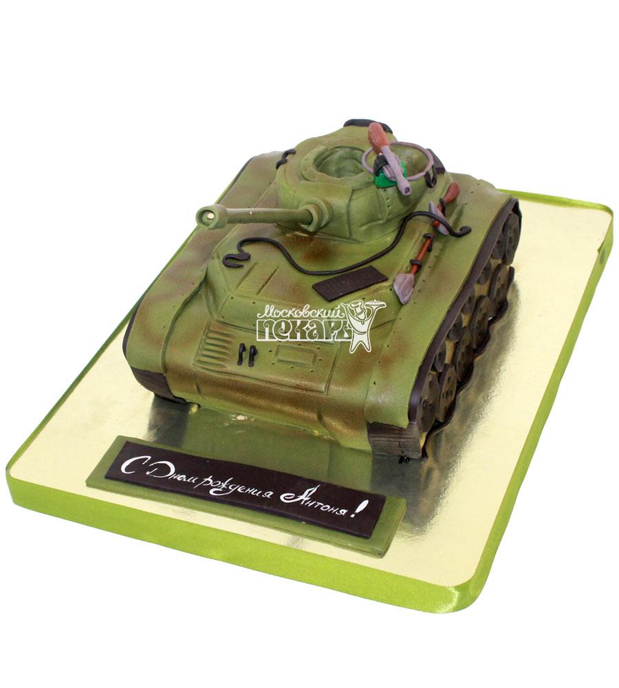 №1304 3D Торт танк