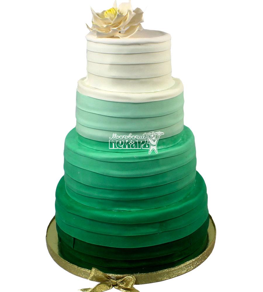 №1311 Свадебный торт с цветком