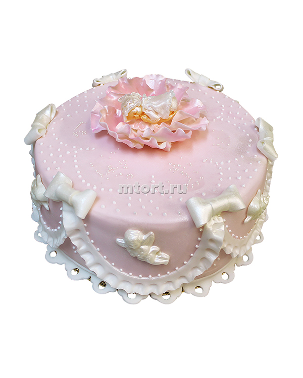№086 Детский торт с бантами