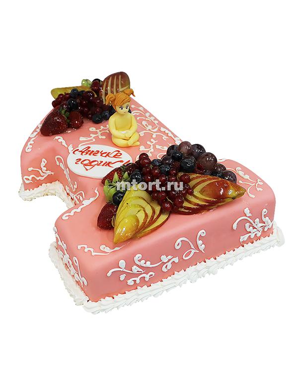 №089 Детский торт с фруктами и ягодами
