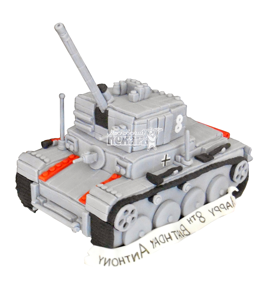 №1358 3D Торт танк