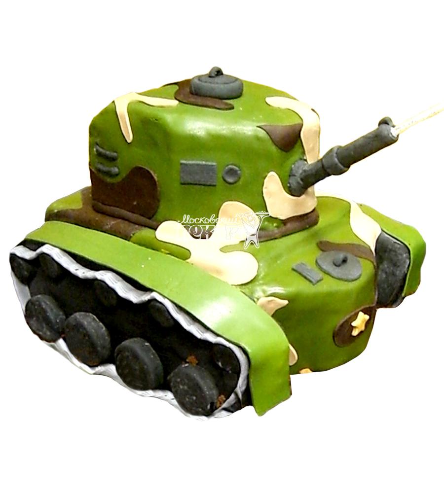 №1369 3D Торт танк