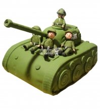 №1372 3D Торт танк