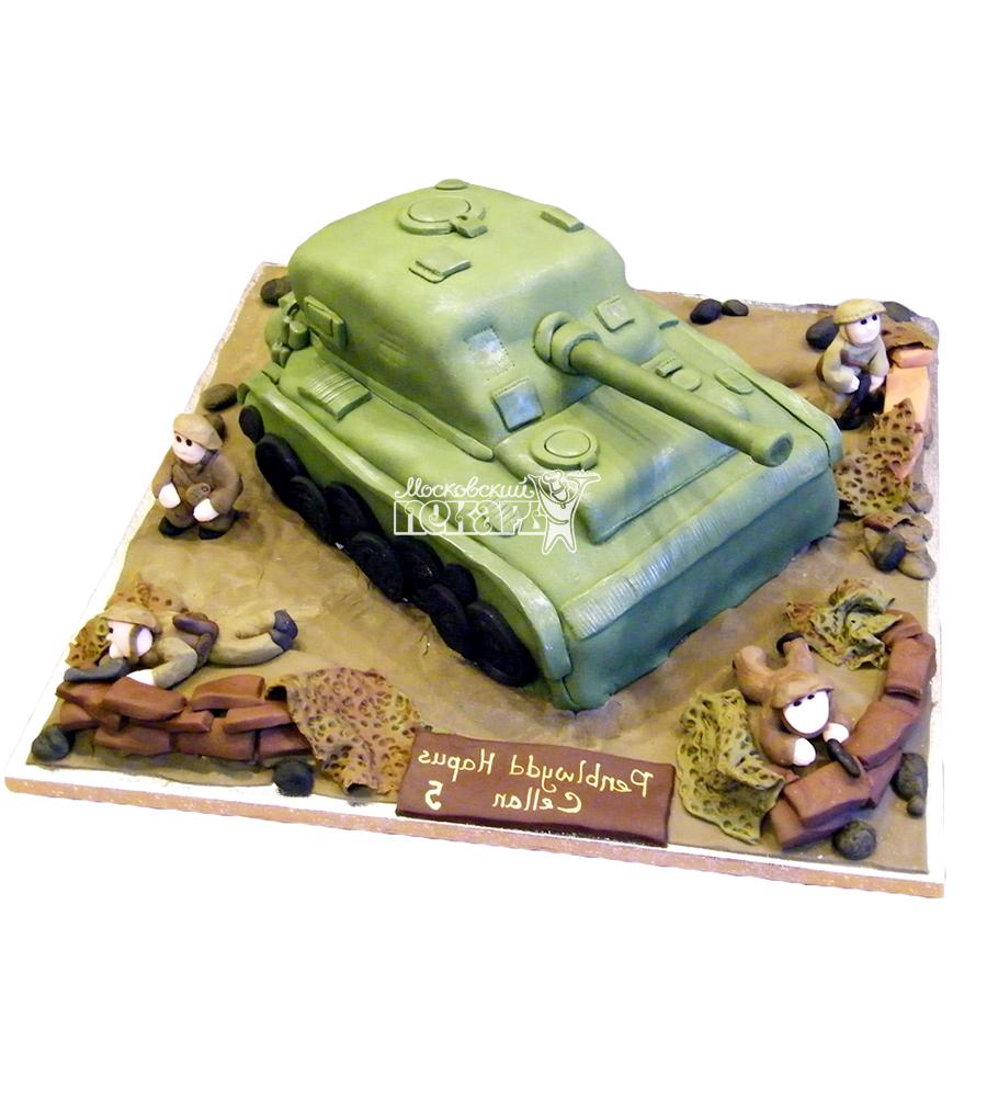 №1374 3D Торт танк