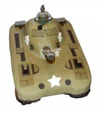 №1381 3D Торт танк