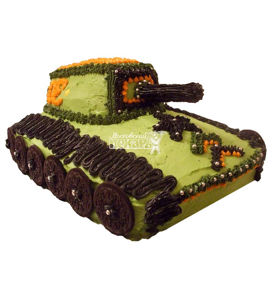№1382 3D Торт танк