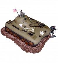 №1383 3D Торт танк