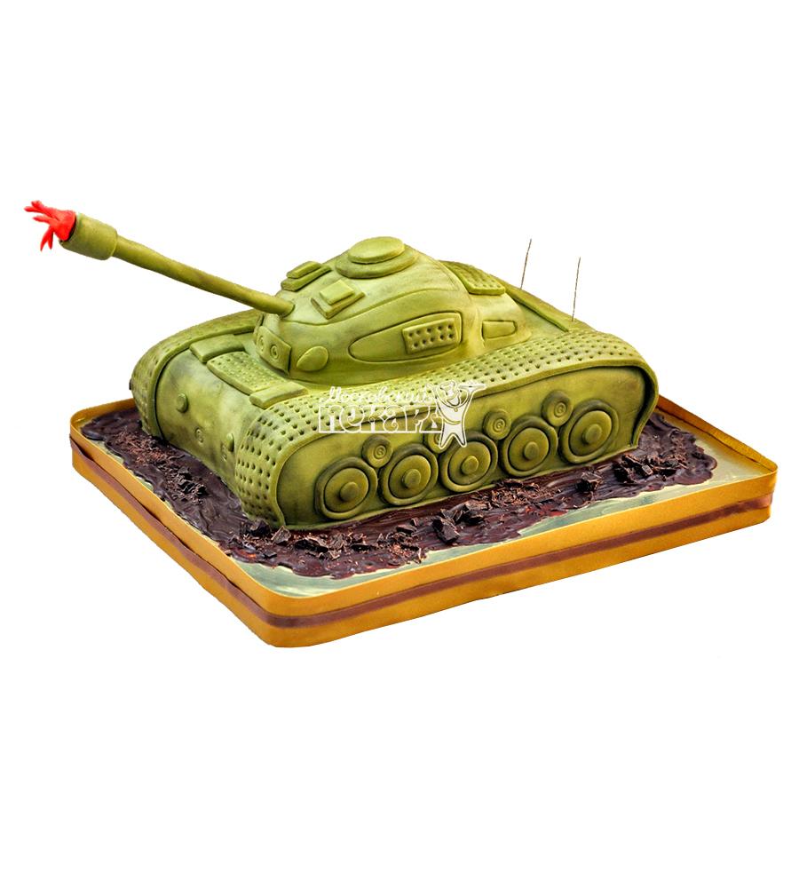 №1387 3D Торт танк