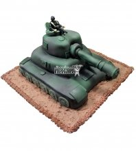 №1390 3D Торт танк