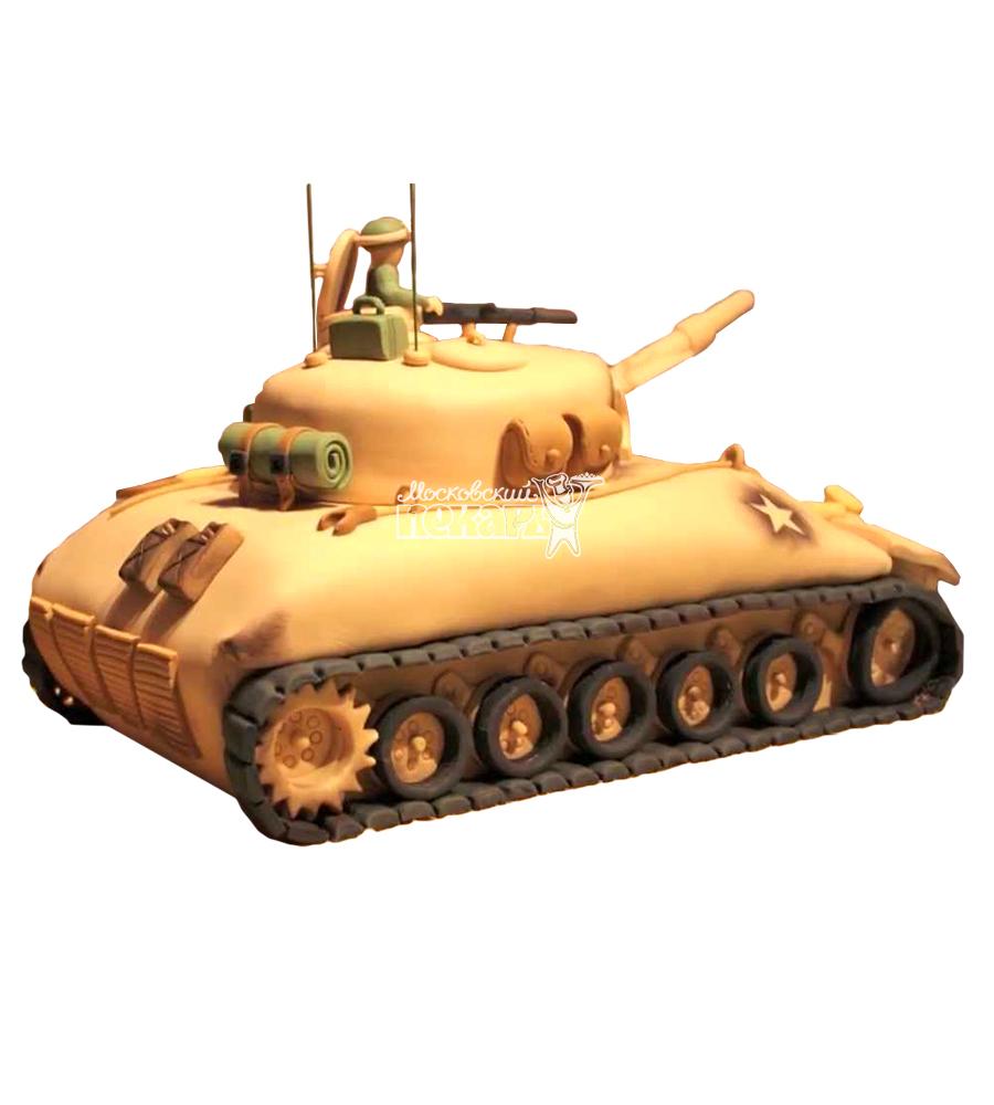 №1392 3D Торт танк