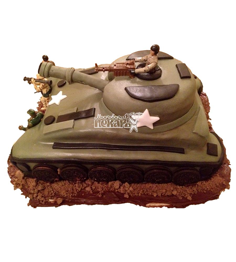 №1393 3D Торт танк