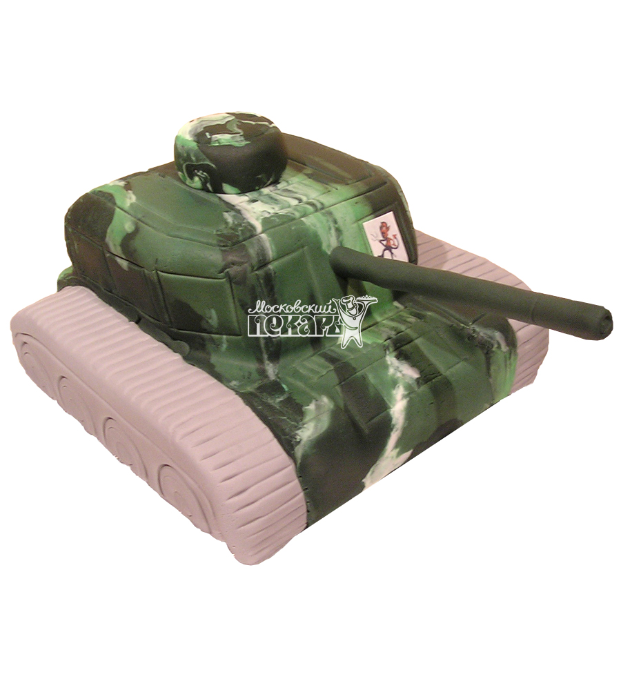№1398 3D Торт танк