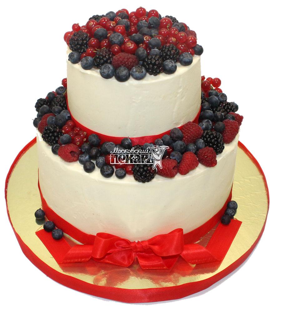 №1478 Свадебный торт с ягодами