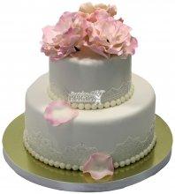 №1481 Свадебный торт с цветами